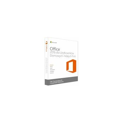 Microsoft Office 2016 Home and Business PC BOX Polski